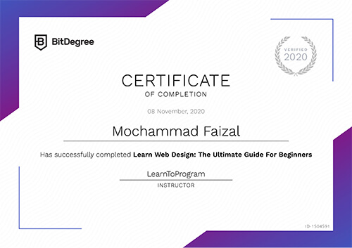 Sertifikat Learn Web Design : The Ultimate Guide for Beginners