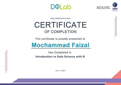 Sertifikat Introduction to Data Science with R