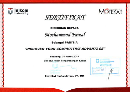 Sertifikat Discover Your Competitive Advantage