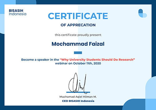 Sertifikat Why University Students Should Do Research