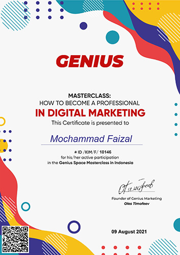 Sertifikat How to Become a Professional in Digital Marketing