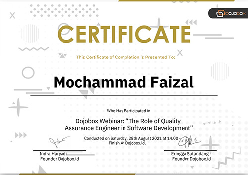 Sertifikat The Role of Quality Assurance Engineer in Software Development